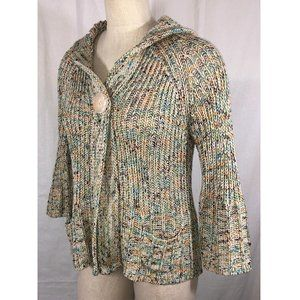 BCBGMaxAzria Cardigan Sweater Hoodie Flare Sleeve